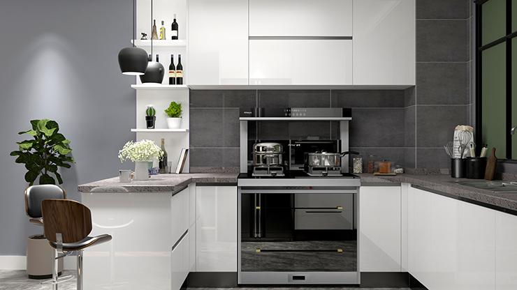 开放式厨房,选金利集成灶就对了,省钱又省空间
